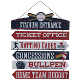 Baseball Stadium Directions Wood Wall Decor