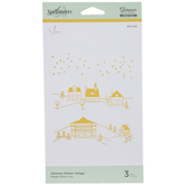 Winter Village Glimmer Hot Foil Plates