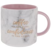 Coffee & Confidence Marble Mug