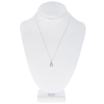 Rhinestone Wishbone Necklace