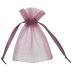 Mauve Sheer Wedding Favor Bags - 12 Pieces