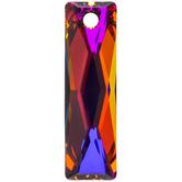 Crystal Volcano Queen Baguette Pendant - 25mm x 7mm