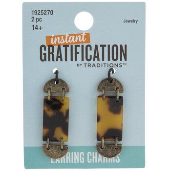 Segmented Tortoise Earring Charms