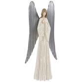 Cream & Silver Distressed Angel