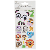 Cartoon Wildlife Puffy Stickers