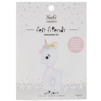 Stuffed Felt Unicorn Needle Art Kit