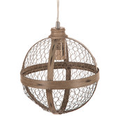 Sphere Chicken Wire Pendant Lamp