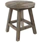 Round Wood Stool Plant Stand
