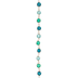 Green & Turquoise Wire Wrapped Glass Bead Strand