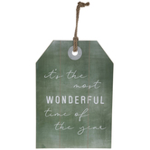 Wonderful Time Tag Wood Wall Decor