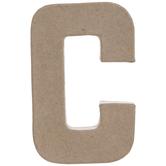 "Paper Mache Letter C - 4"""