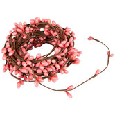 Coral Berry Ribbon Garland