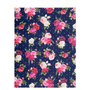 "Red & Pink Floral Scrapbook Paper - 8 1/2"" x 11"""