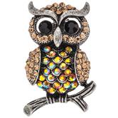 Owl Rhinestone Brooch