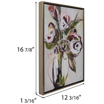 Roses In Vase Canvas Wall Decor