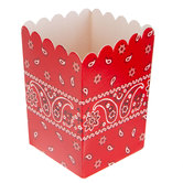 Red Bandana Favor Boxes