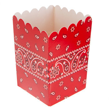 Red Bandana Favor Boxes