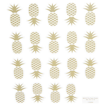 Gold Foil Pineapple Stickers
