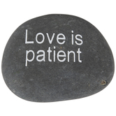 Love Is Patient Garden Stone