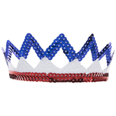 Red, White & Blue Zig Zag Sequin Tiara
