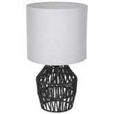 Black Woven Rope Lamp