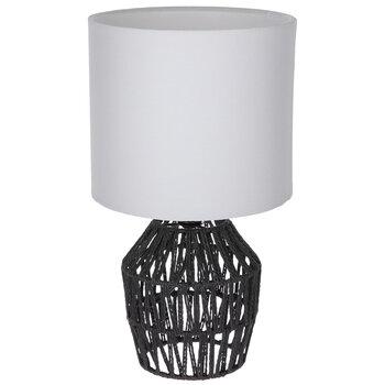 Black Woven Rope Lamp