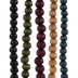 Blue, Red & Green Wood Bead Strands