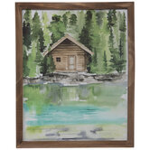 Watercolor Cabin Wood Wall Decor