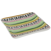 Tropical Dotted Striped Jewelry Dish