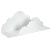 White Cloud Wood Wall Shelf - Large
