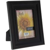 """Black Wide Scoop Wood Frame - 4"""" x 6"""""""