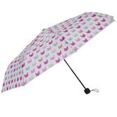 Pink & Green Cat Faces Umbrella
