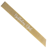 Birthday Girl Glitter Sash