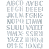 Silver Gem Alphabet Stickers - Regular