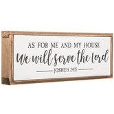 Joshua 24:15 Wood Decor