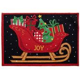 Holiday Joy Sleigh Rug