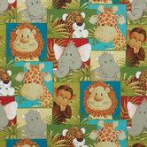 Jungle Babies Cotton Calico Fabric