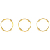 18k Gold Plated Round Jump Rings - 9mm