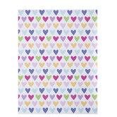 """Bright Hearts Scrapbook Paper - 8 1/2"""" x 11"""""""
