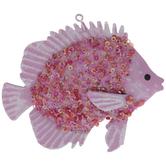 Pink Sequin Fish Ornament