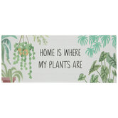 Home Is Where My Plants Are Wood Decor