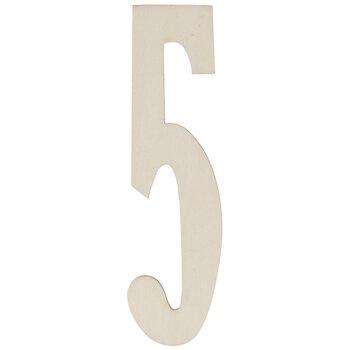 Vintage Sign Wood Numbers - 5