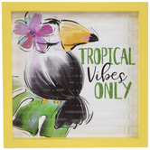 Tropical Vibes Only Toucan Metal Decor