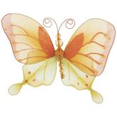 Yellow & Orange Butterfly Ornament