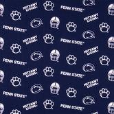 Penn State Allover Collegiate Cotton Fabric