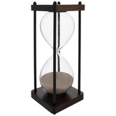 Brown & Black Framed Hourglass