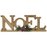 Metallic Gold Noel Decor