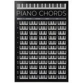 Piano Chords Chart Wood Wall Decor