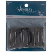 Black Rectangle Shell Safety Pins