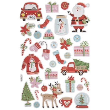 Outdoor Christmas Puffy Stickers